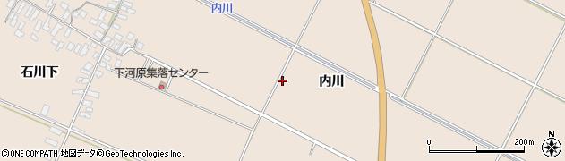 山形県寒河江市西根内川周辺の地図