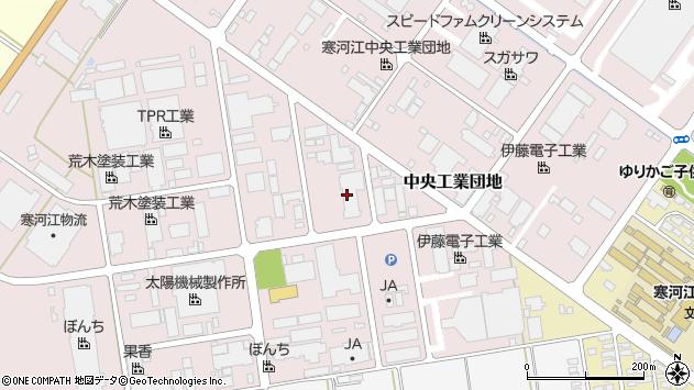 山形県寒河江市中央工業団地61周辺の地図
