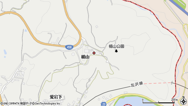 山形県西村山郡大江町左沢2523周辺の地図