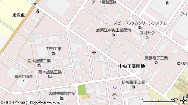 山形県寒河江市中央工業団地51周辺の地図