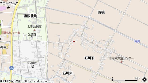 山形県寒河江市西根石川下2052周辺の地図
