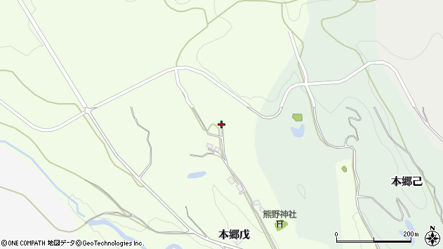 山形県西村山郡大江町本郷戊75周辺の地図