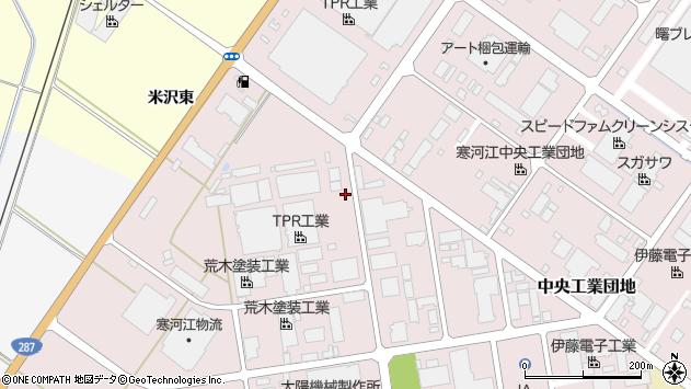 山形県寒河江市中央工業団地1周辺の地図