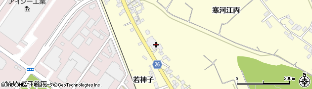 山形県寒河江市寒河江長岡周辺の地図