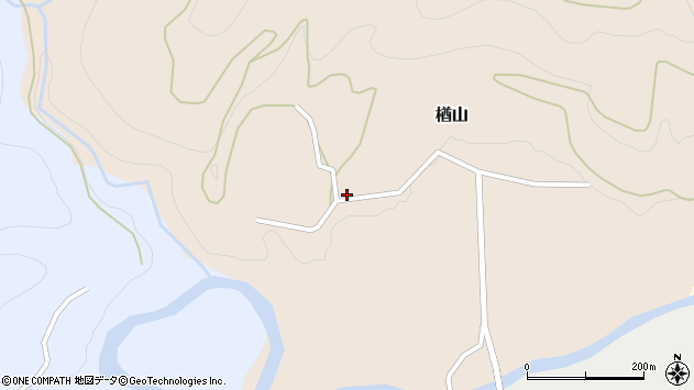 山形県西村山郡大江町楢山117周辺の地図