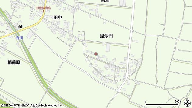 山形県西村山郡河北町溝延毘沙門周辺の地図