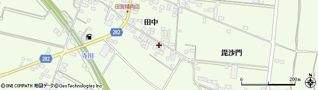 山形県西村山郡河北町溝延田中周辺の地図
