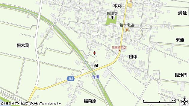 山形県西村山郡河北町溝延寺屋敷周辺の地図