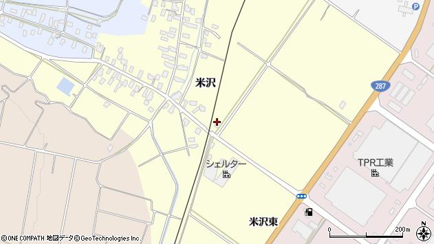 山形県寒河江市米沢1039周辺の地図