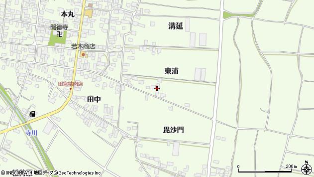 山形県西村山郡河北町溝延東浦98周辺の地図