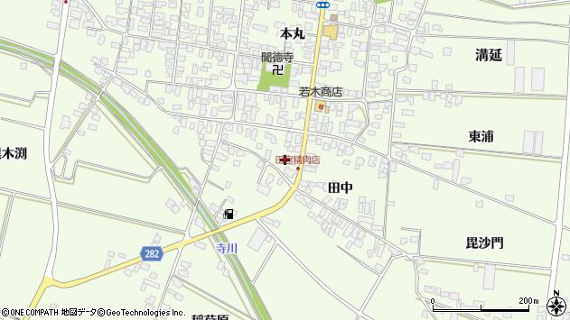 山形県西村山郡河北町溝延田中525周辺の地図