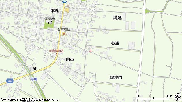 山形県西村山郡河北町溝延東浦754周辺の地図