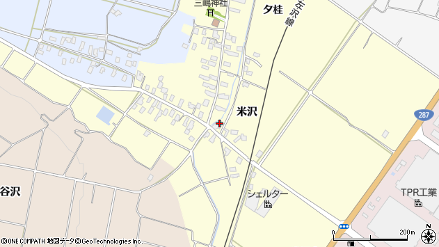 山形県寒河江市米沢41周辺の地図