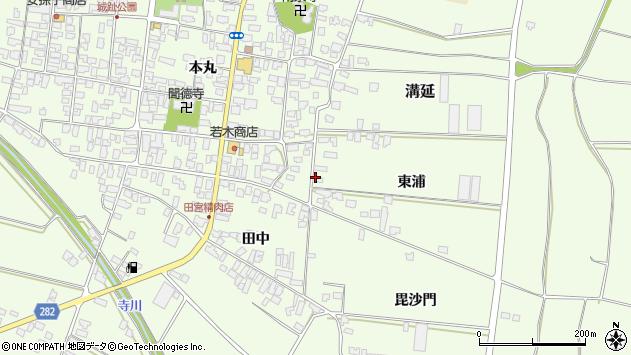山形県西村山郡河北町溝延東浦93周辺の地図