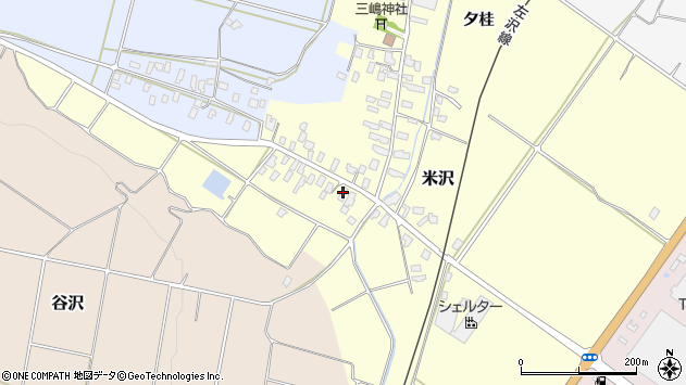 山形県寒河江市米沢33周辺の地図