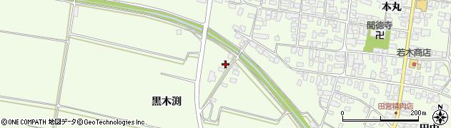 山形県西村山郡河北町溝延黒木渕302周辺の地図