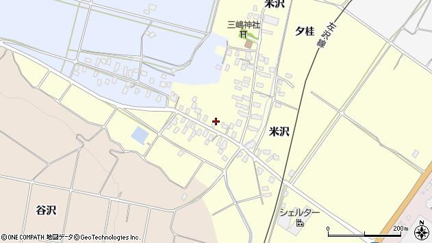 山形県寒河江市米沢28周辺の地図