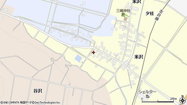 山形県寒河江市米沢6周辺の地図