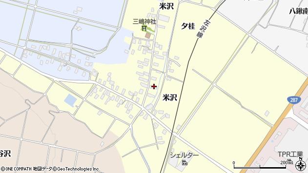 山形県寒河江市米沢48周辺の地図
