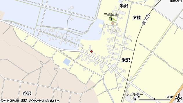 山形県寒河江市米沢12周辺の地図