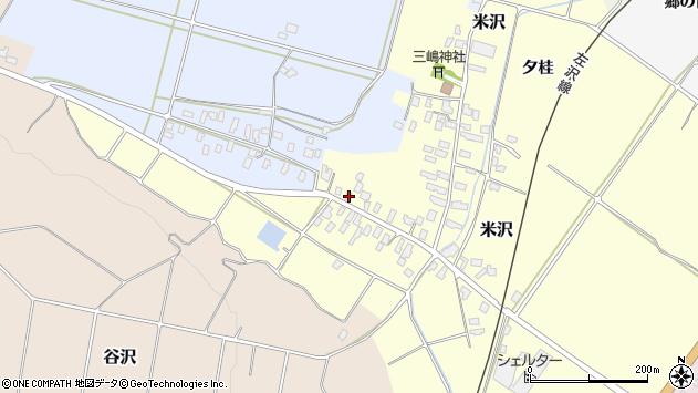 山形県寒河江市米沢5周辺の地図