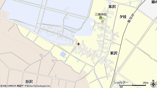 山形県寒河江市米沢3周辺の地図