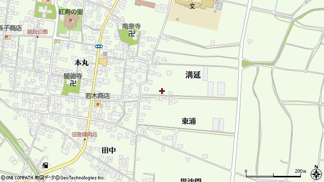 山形県西村山郡河北町溝延東浦36周辺の地図