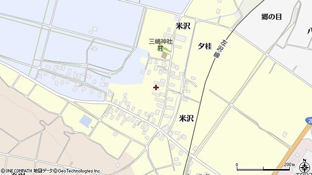 山形県寒河江市米沢56周辺の地図