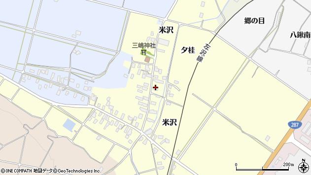 山形県寒河江市米沢60周辺の地図