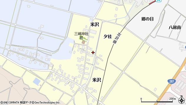 山形県寒河江市米沢周辺の地図