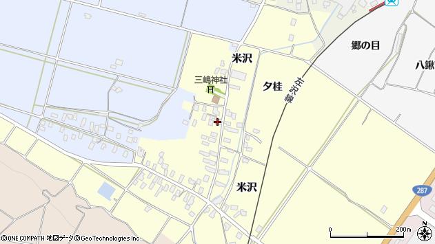 山形県寒河江市米沢64周辺の地図