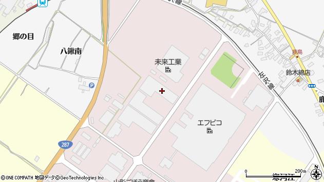 山形県寒河江市中央工業団地194周辺の地図