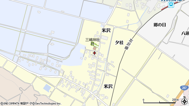 山形県寒河江市米沢65周辺の地図