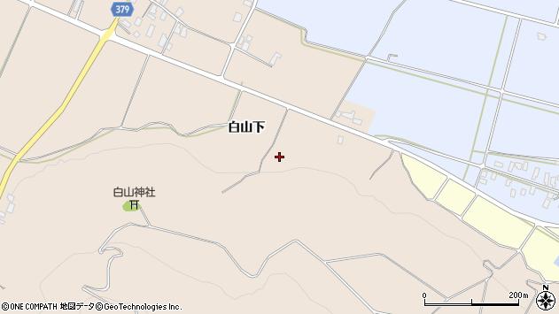 山形県寒河江市谷沢白山下周辺の地図