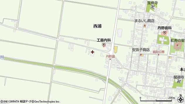 山形県西村山郡河北町溝延黒木渕58周辺の地図