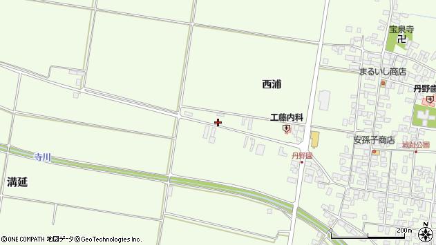 山形県西村山郡河北町溝延西浦14周辺の地図