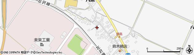山形県寒河江市八鍬524周辺の地図