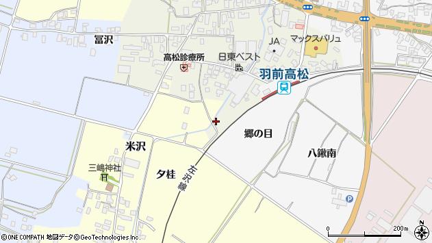 山形県寒河江市高松230周辺の地図