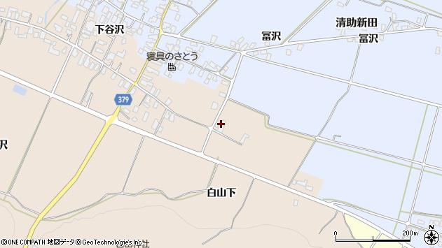 山形県寒河江市谷沢654周辺の地図