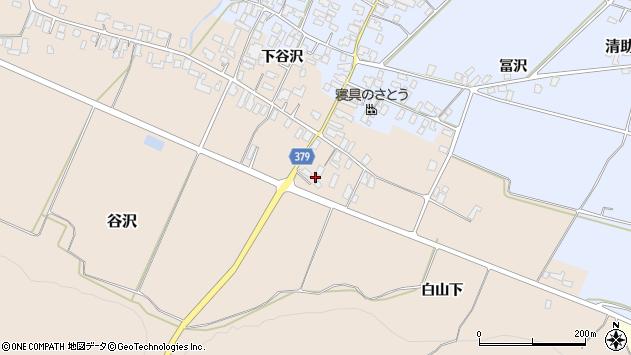 山形県寒河江市谷沢1242周辺の地図