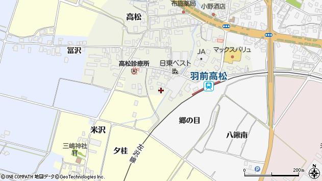 山形県寒河江市高松141周辺の地図