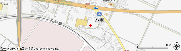 山形県寒河江市八鍬南周辺の地図