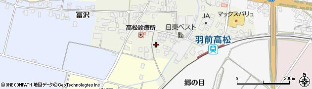 山形県寒河江市高松128周辺の地図