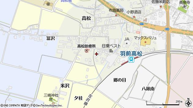 山形県寒河江市高松127周辺の地図