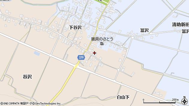 山形県寒河江市谷沢593周辺の地図