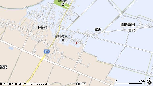 山形県寒河江市清助新田126周辺の地図