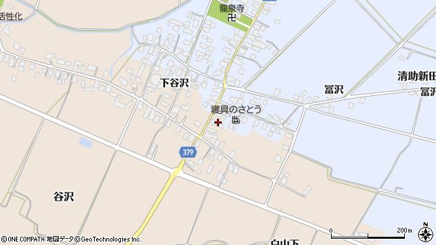 山形県寒河江市谷沢591周辺の地図