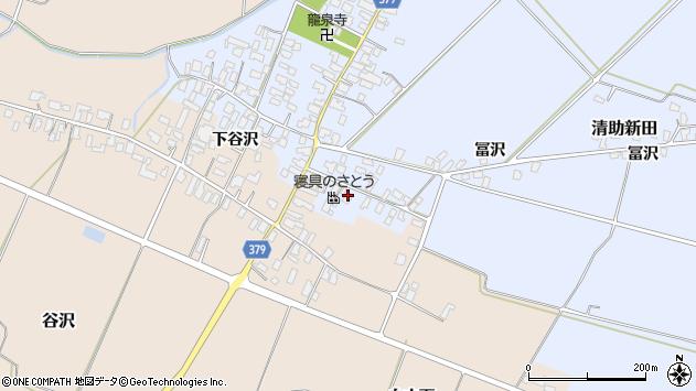 山形県寒河江市清助新田89周辺の地図
