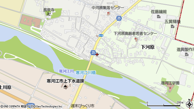 山形県寒河江市下河原1周辺の地図