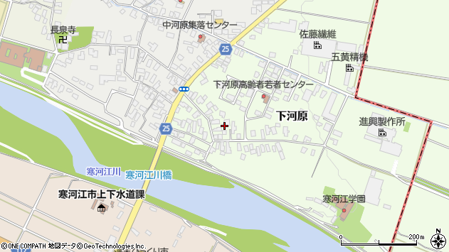 山形県寒河江市下河原208周辺の地図